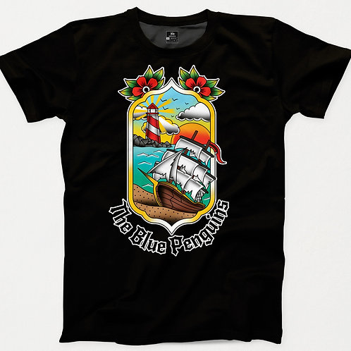 Shipwreck TBP Traditional Tattoo T-Shirt