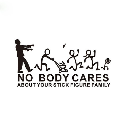 Zombie Nobody Cares Bumper Sticker