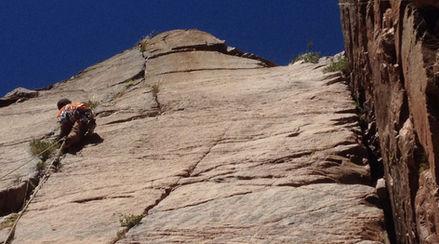 traditional rock climbing cajon del maip