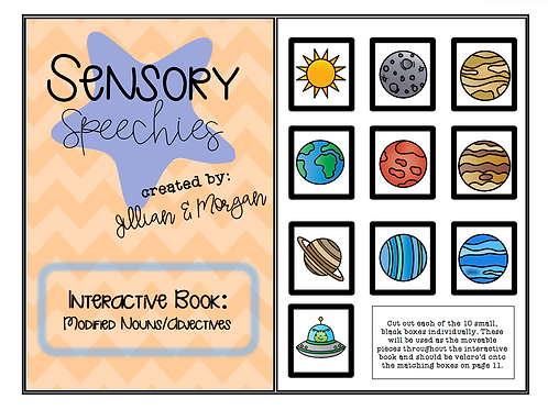 Space Interactive Book ~ Modified Nouns/Adjectives ~ Digital Download