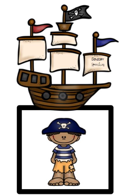 Pirate Sensory Stakes ~ Pronouns ~ Pre-made
