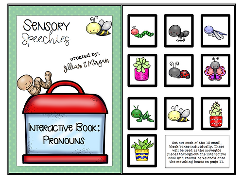 Garden Life Interactive Book ~ Pronouns ~ Digital Download