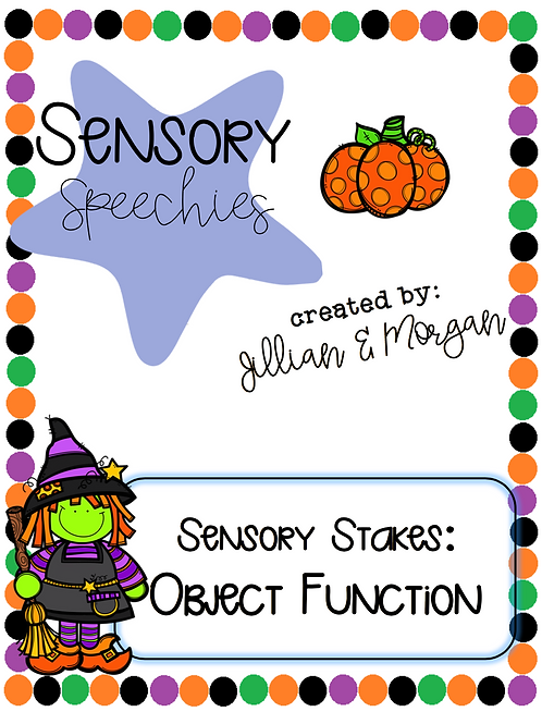 Halloween Sensory Stakes ~ Object Function ~ Premade