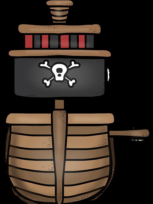 Pirate Sensory Stakes ~ CVC Set 1 ~ Pre-made