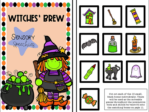 Halloween Interactive Book ~ Witches' Brew ~ Premade