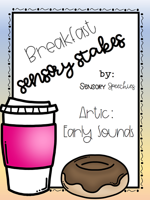 Breakfast Sensory Stakes ~ Artic: Early Sounds ~ Pre-made