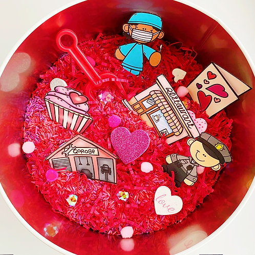 Valentine's Day Sensory Tin Filler and Activity