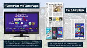 Sponsor Logos on Commercials and Print/Online