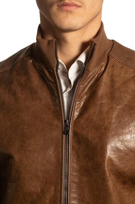 Men's Bomber Leather Jacket