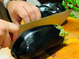 Chef Gianluca Deiana Abis:  Melanzane al cucchiaio/ Face down oven roasted Eggplant