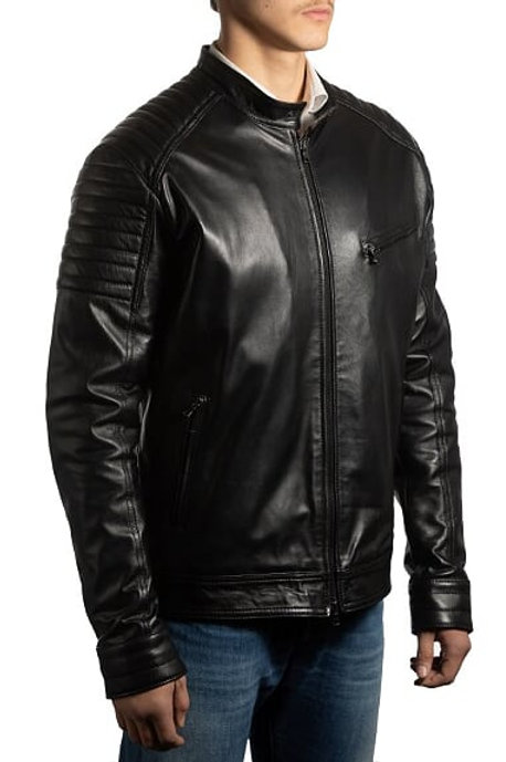 Men's Biker Leather Jacket