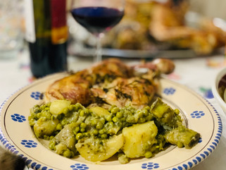 Gianluca Deiana Abis: Roasted Lamb with Artichoke, Potatoes and Peas.