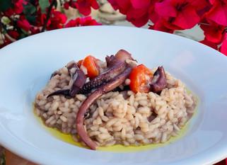 Chef Gianluca Deiana Abis: Risotto con Seppie e Cannonau
