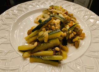 Chef Gianluca Deiana Abis: Sweet And Sour Zucchini