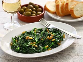 Chef Gianluca Deiana Abis: Spinaci Alla Romana/ Roman Style Spinach