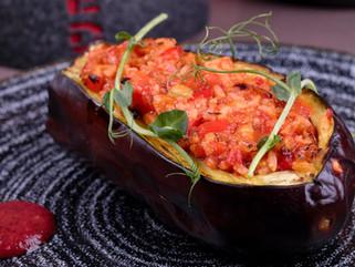 Chef Gianluca Deiana Abis: Melanzane Ripiene Di Riso/ Stuffed Eggplant with Rice