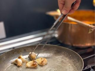 Chef Gianluca Deiana Abis: Aglio in Camicia/ Oil Poached Garlic Puree