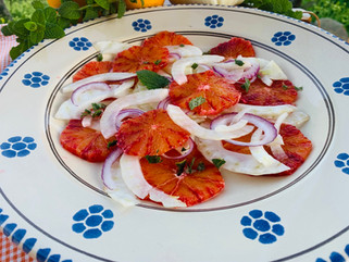 Chef Gianluca Deiana Abis: Insalata di Aranci e Finocchi/ Blood Orange and Fennel Salad