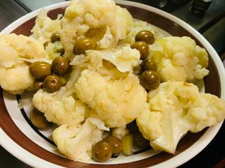 Chef Gianluca Deiana Abis:      Stufato di Cavolo con olive/ cauliflower with olives