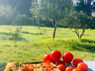 Gianluca Deiana Abis: Focaccia Con Pomodorini E Origano/ Tomato And Oregano Focaccia