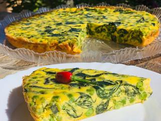 Chef Gianluca Deiana Abis: Frittata Al Forno Di Spinaci e Piselli/ Frittata with Spinach and Peas