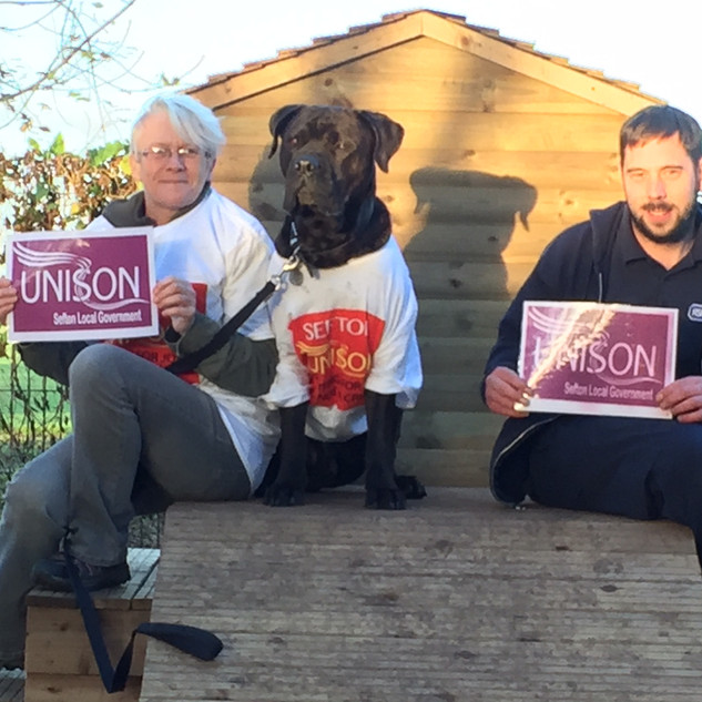 Tracey (unison Rep), Marvin (Dog Rescuers fame) & Daryll, ACA