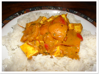 Paneer curry (V) (serves 4, preparation time 30 minutes, cooking time 45 minutes)