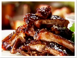 Lee's barbeque spare ribs (serves 4, needs 24 hours marinating time)