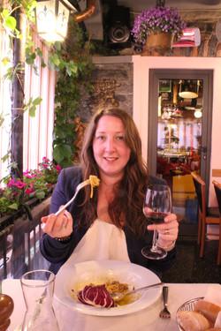 Pasta in Bellagio