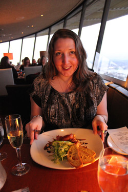 Food in the Seattle flying saucer