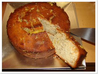 Lemon drizzle and poppy seed cake (serves 8, preparation time 10 minutes, cooking time 1 hour 10 min