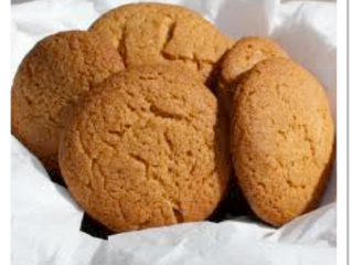 Ginger biscuits (makes 12, preparation time 40 minutes, cooking time 15 - 20 minutes)