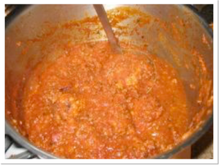 Ragu sauce (v) (serves 6, preparation time 20 minutes, cooking time 2 hours plus)