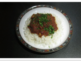 Lamb Jalfrezi  (serves 4, preparation time 20 minutes, cooking time at least 1 hour and better for m