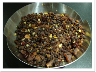 Christmas cake  (preparation time 50 minutes plus soaking overnight, cooking time 4.5 hours)