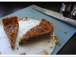 Onion tart with wholemeal pastry (v)  (preparation time 1 hour, cooking time 1 hour)