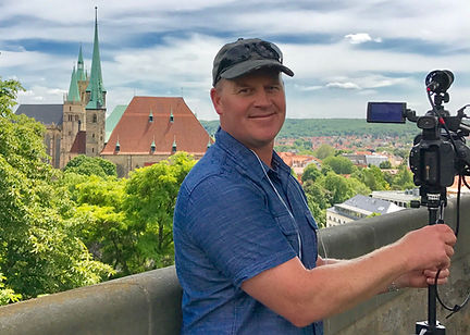 Jim Gromer filmig in Germany