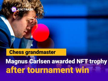Chess grandmaster Magnus Carlsen receives world's first NFT chess trophy