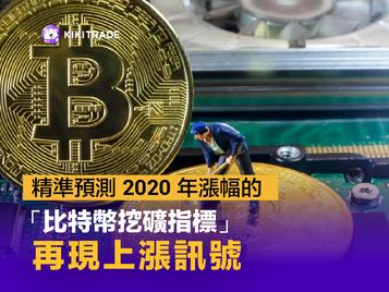 精準預測 2020 年漲幅的「比特幣挖礦指標」再現上漲訊號