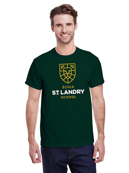 Tri-Blend Adult Unisex Short-Sleeve Spirit Shirt (Emerald Green)