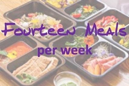 Fourteen Meals per week