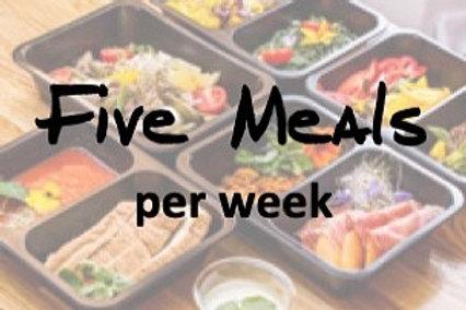 Five Meals per week