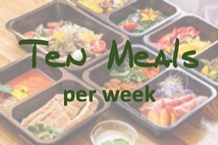 Ten Meals per week
