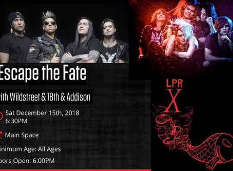 Escape the Fate w/Wildstreet and 18th & Addison 12/15/18 at Le Poisson Rouge, NYC