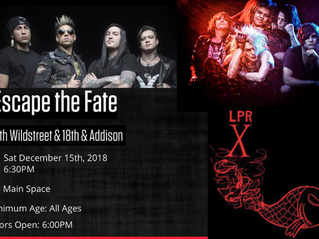 Escape the Fate w/ Wildstreet and 18th & Addison 12/15/18 at Le Poisson Rouge, NYC