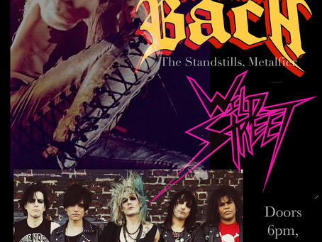 WILDSTREET opens for legendary vocalistSebastian Bach at The Chance Theatre in Poughkeepsie, NY Sun