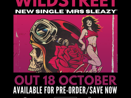 Presave Wildstreet 'Mrs. Sleazy' Swiss Rock Cruise / Europe Tour this week!
