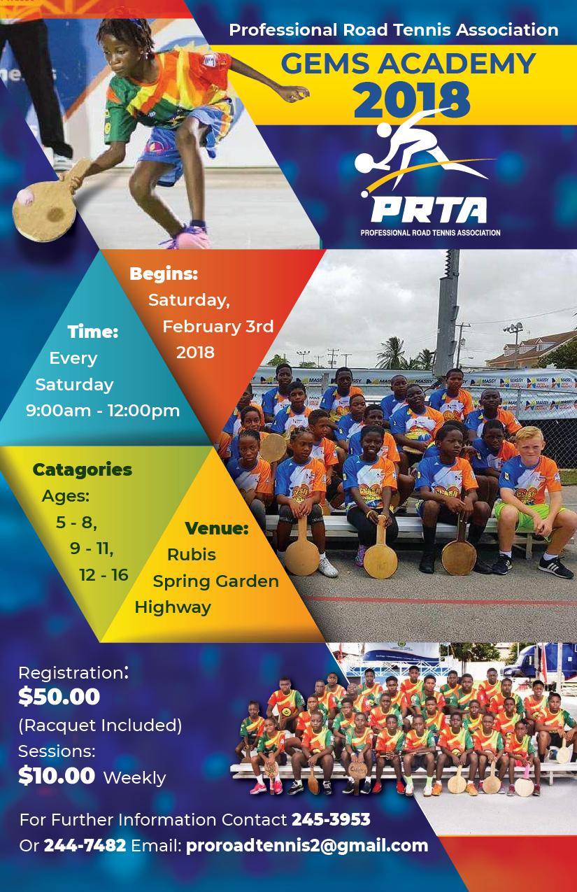 Professional Road Tennis Flyer