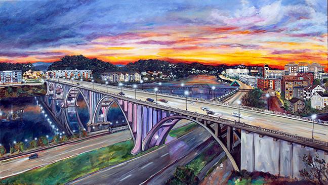 Henley Bridge at Sunset