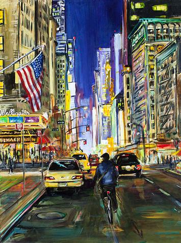 7th Avenue Cyclist